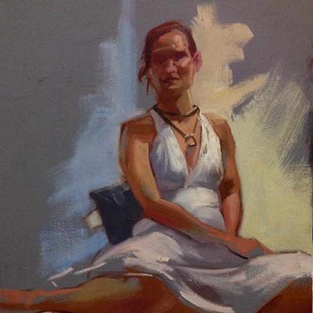 20 min oil painting study