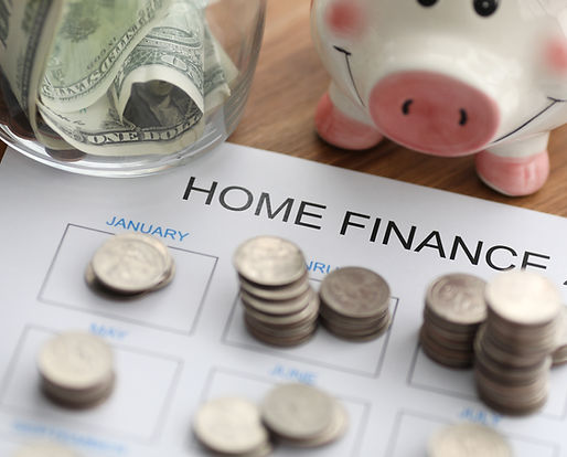 Mood image of piggy bank and money for home and finance.
