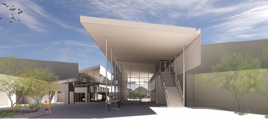 Phoenix Country Day School w/Music Building