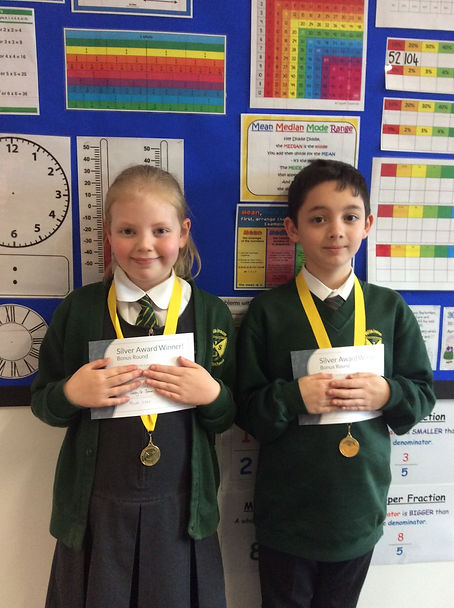 Lucy and Robert Primary Maths Challenge.