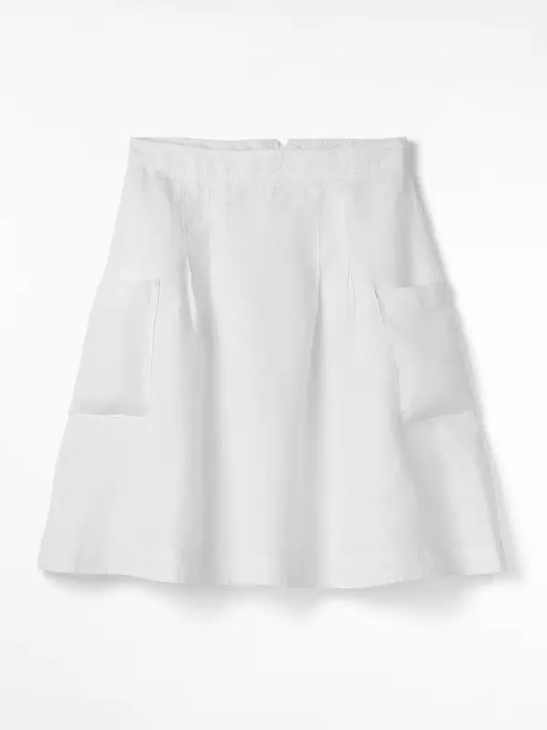 White Stuff Charlie Linen Skirt (White).
