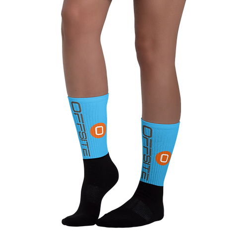 OFFSITE Black Foot Sublimated Socks