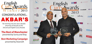 Akbar's English Curry Awards 2013 Winner