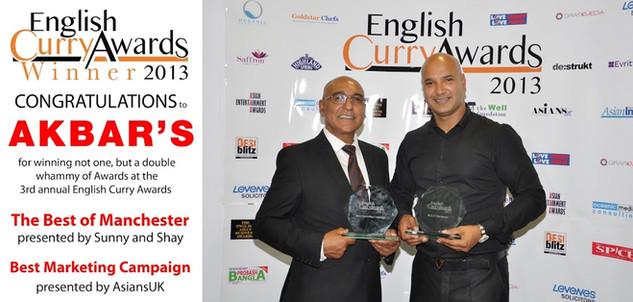 Akbar's English Curry Awards 2013 Winner