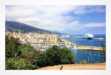 Vue citadelle de Bastia