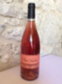 Ettiquette sur bouteille rose moelleux 2