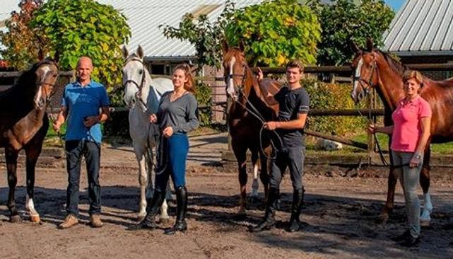 Geert, Eline, Bas en Marie-Louise