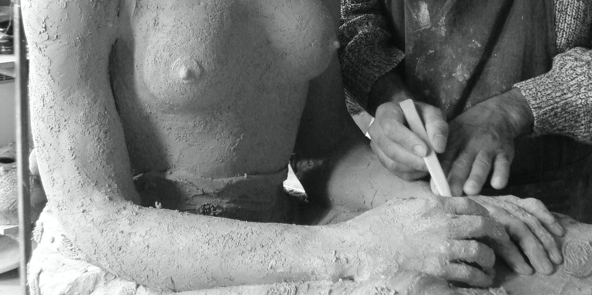 Benoît de Souza dans son atelier