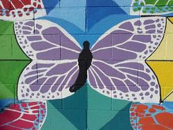 Center Butterfly in Mural