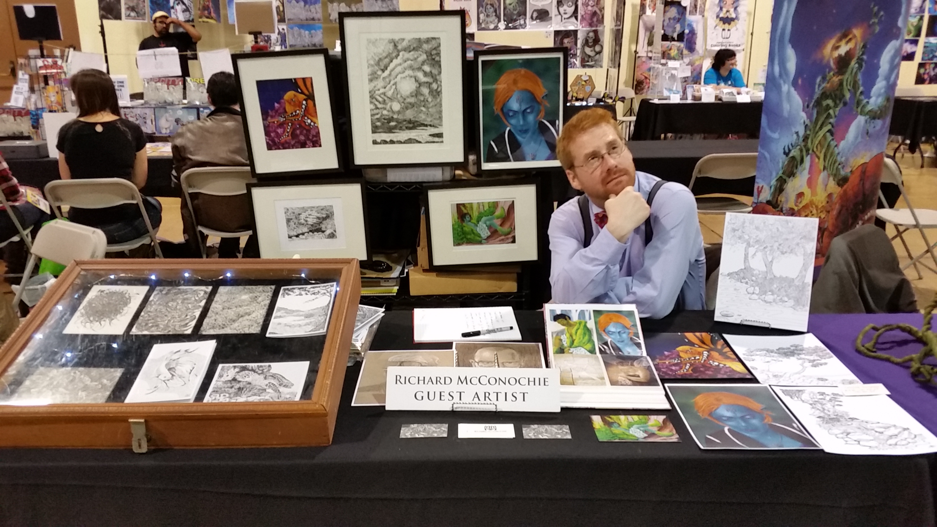 Richard McConochie at Eucon comicon