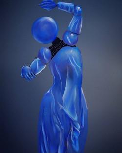 Blue Dancing Robot