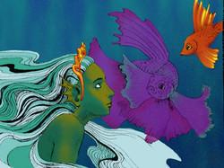 Water Spirit and Fish