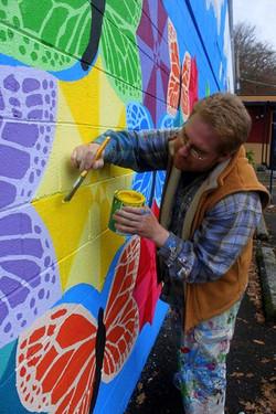 Painting a Mural Umbrella