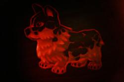 Pumpkin Carving of Molten Corgi Dog