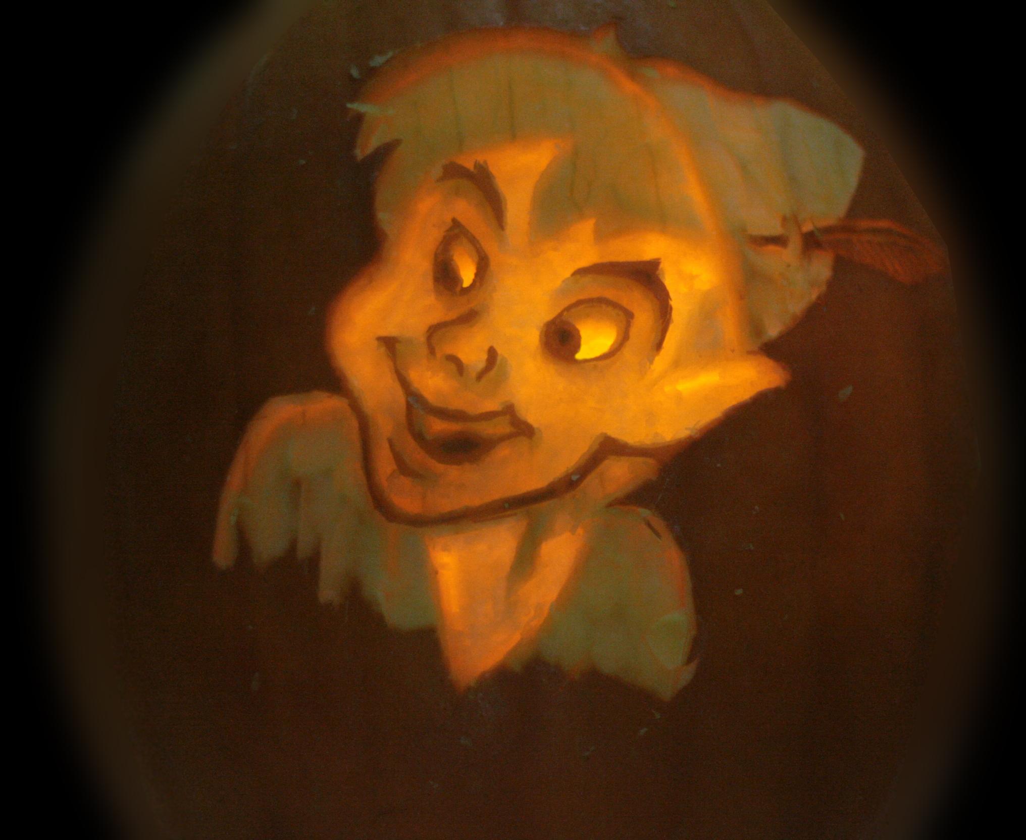 Pumpkin Carving of Peter Pan