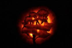 Pumpkin Carving of Oak Tree