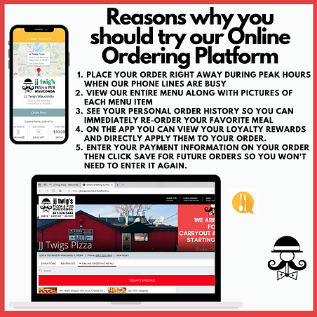 Try Online Ordering or Order on the Hear