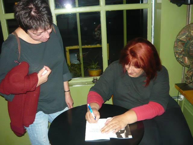 Signing a copy