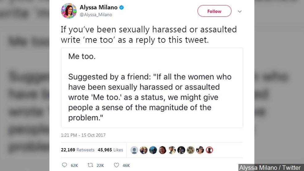 Alyssa Milano #MeToo tweet