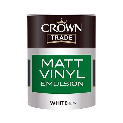 Crown Trade Matt Vinyl Emulsion White 5L
