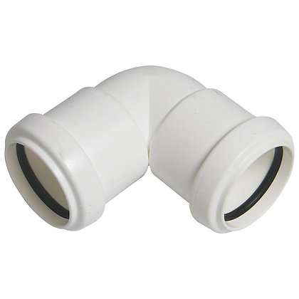 Pushfit Waste Knuckle Bend White 32mm