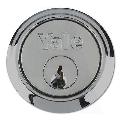 Yale P1109 Rim Cylinder With 2 Keys Chrome