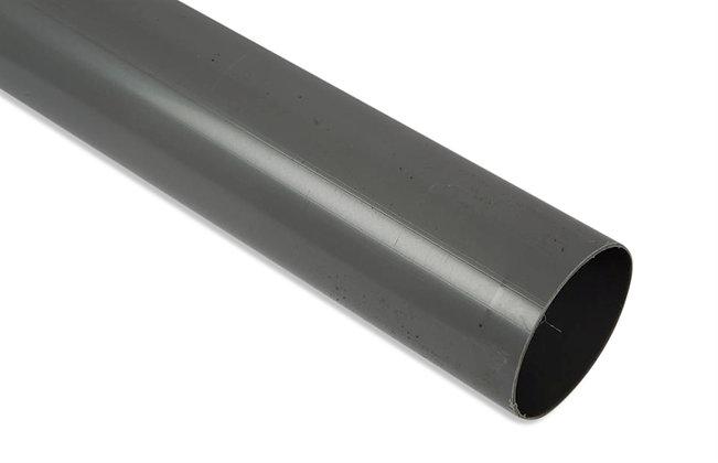 Round 68mm Rainwater Downpipe 4m Grey