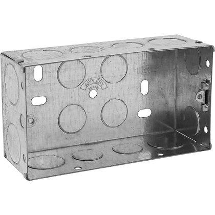 Appleby 2G Galvanised Flush Back Box 47mm