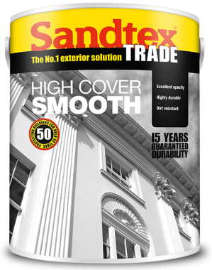 Sandtex Trade Smooth Masonry Paint White 5L