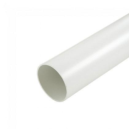 Round 68mm Rainwater Downpipe 4m White