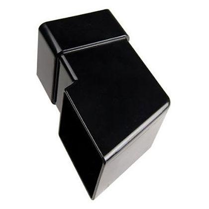Square 65mm Rainwater Downpipe Shoe Black