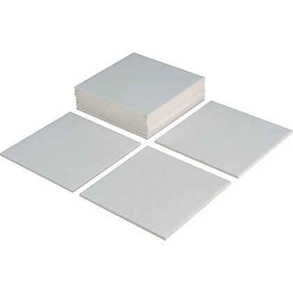 White Wall Tiles Pack of 44 150mm x 150mm
