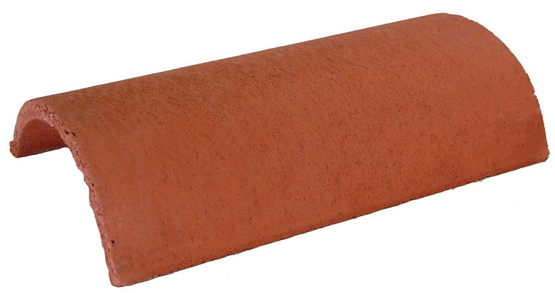 Redland Half Round Ridge Tile 450mm Terracotta