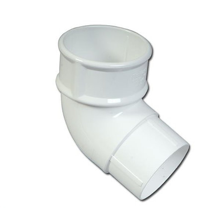 Round 68mm Rainwater Downpipe 112 Degree Bend White