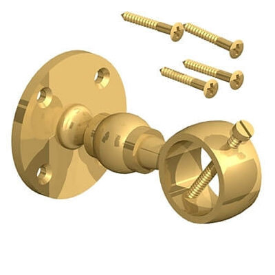 Fencemate 24mm Brass Rope Handrail Bracket Twin Pack