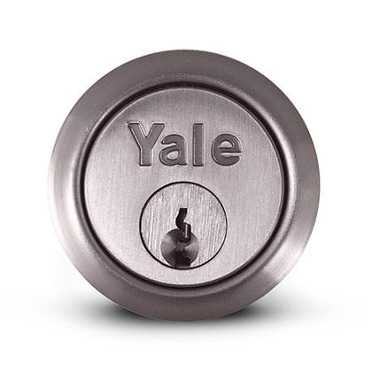 Yale P1109 Rim Cylinder With 2 Keys Satin Chrome