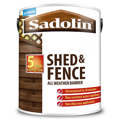 Sadolin Shed and Fence All Weather Barrier Cedar Red 5L