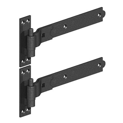Straight Band and Pin Hinges Black 600mm
