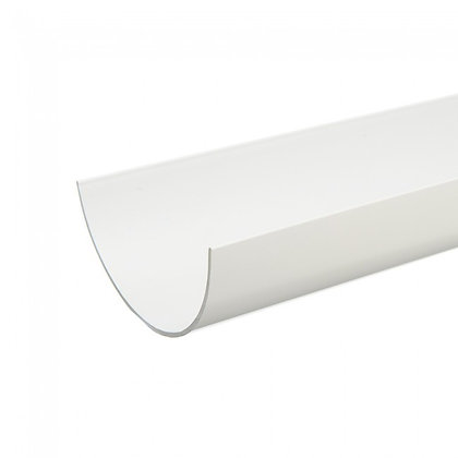 Half Round Rainwater 112mm Gutter 4m White