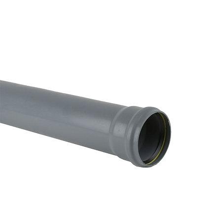 Pushfit Soil Single Socket Pipe Grey 3m x 110mm