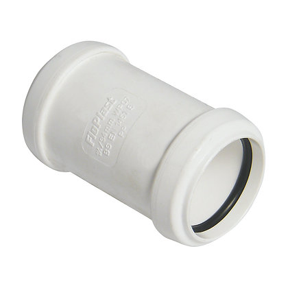 Pushfit Waste Straight Connector White 40mm