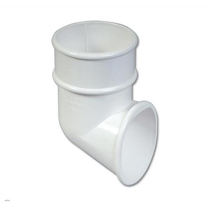 Round 68mm Rainwater Downpipe Shoe White