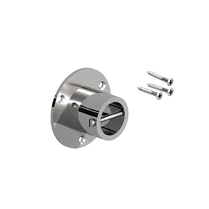 Fencemate 24mm Chrome Rope End Plate Twin Pack