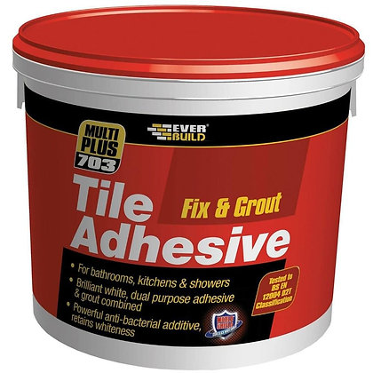 Everbuild 703 Fix & Grout Tile Adhesive 2.5kg