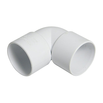 Solvent Weld 90deg Spigot Bend M&F White 40mm