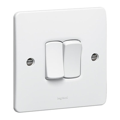 Legrand Synergy 2G 2W Light Switch 730002