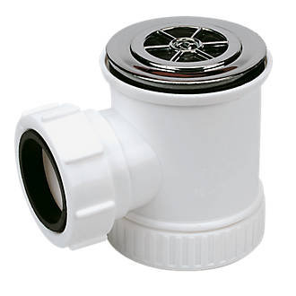 Shower Trap and Waste 70mm x 19mm Chrome