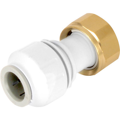 "Speedfit Straight Tap Connector 15mm x 3/4""in"
