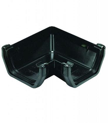 Square Rainwater 112mm Gutter 90 Degree Angle Black