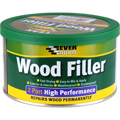 Everbuild 2 Part High Performance Wood Filler 500g Pine